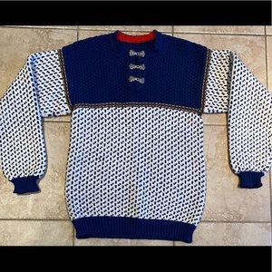 Class Norwegian Ski Sweater Handmade